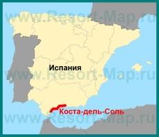 Коста-дель-Соль на карте �спании