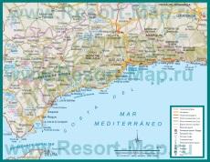 Туристическая карта Коста-дель-Соль