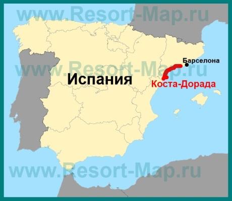 Коста-Дорада на карте �спании