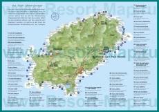 Карта пляжей и курортов �бицы