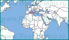 Остров �бица на карте мира
