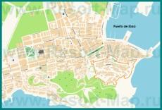 Подробная карта города Ибица