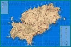 Подробная туристическая карта острова �бица