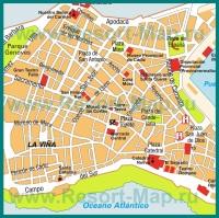 Карта Кадиса с достопримечательностями