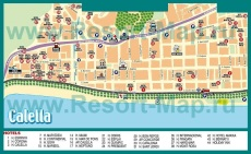 Карта отелей Калельи