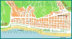 Подробная карта курорта Калелья