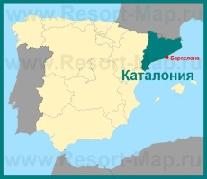 Каталония на карте �спании