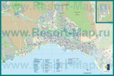 Карта Плайя-де-лас-Америкас с отелями