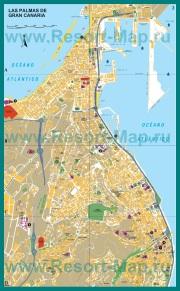 Подробная карта города Лас-Пальмас