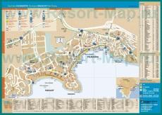 Подробная карта Магалуфа с отелями