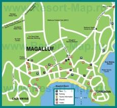 Туристическая карта курорта Магалуф