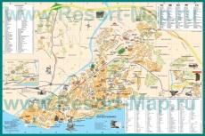 Подробная карта Малаги с отелями