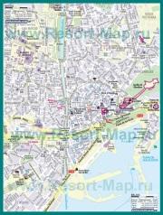 Туристическая карта Малаги