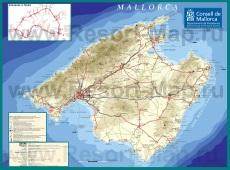 Подробная карта острова Майорка