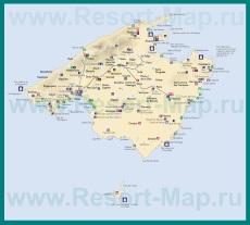 Туристическая карта Майорки