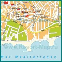 Карта курорта Марбелья с достопримечательностями