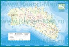Туристическая карта Менорки с курортами