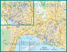 Туристическая карта Пальма-де-Майорки с достопримечательностями