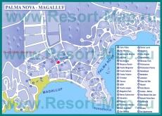 Карта отелей Пальма Новы