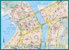 Карта центра города Сан-Себастьян