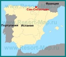 Сан-Себастьян на карте �спании