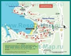 Карта отелей Санта Понсы