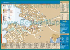 Подробная карта Санта Понсы с отелями