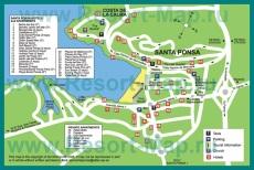 Туристическая карта курорта Санта Понса