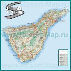 Карта дорог Тенерифе