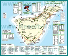Карта курортов Тенерифе