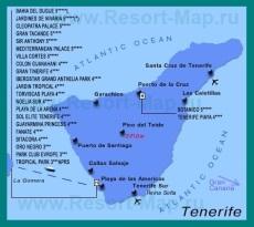 Карта отелей Тенерифе