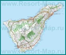 Карта Тенерифе с пляжами
