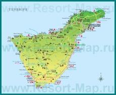 Туристическая карта Тенерифе с достопримечательностями