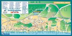 Карта курорта Торремолинос с отелями