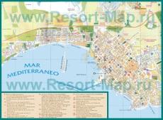 Карта Торревьехи с отелями и достопримечательностями