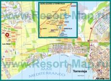 Подробная карта курорта Торревьеха