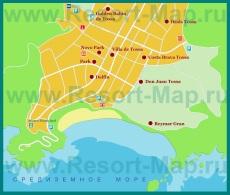 Карта отелей Тосса-де-Мар