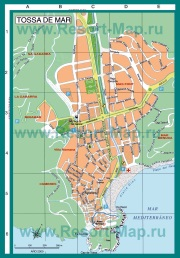 Подробная карта курорта Тосса-де-Мар