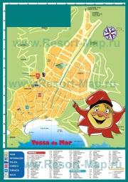 Туристическая карта Тосса-де-Мар с отелями