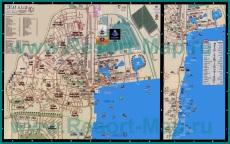 Подробная карта Эйлата с отелями