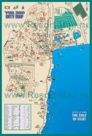 Подробная туристическая карта города Эйлат