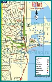 Туристическая карта курорта Эйлат
