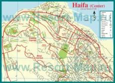 Карта города Хайфа