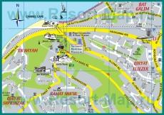 Туристическая карта Хайфы с достопримечательностями
