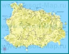 Подробная карта острова �скья