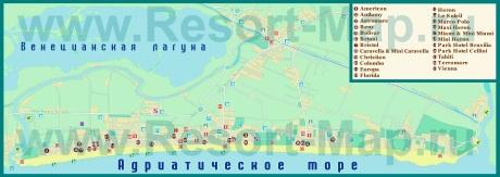 Карта отелей Лидо-ди-Езоло