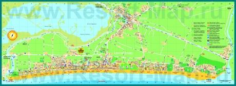 Подробная карта курорта Лидо-ди-Езоло