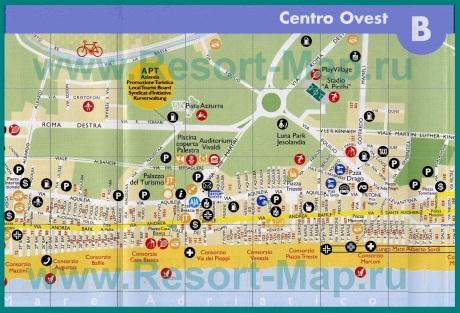 Туристическая карта центра Лидо-ди-Езоло