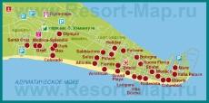Карта отелей Линьяно