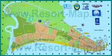 Подробная карта курорта Линьяно